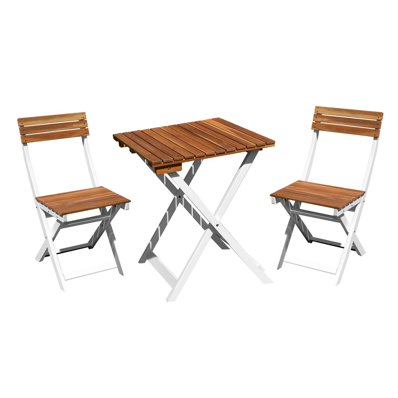 Комплект duo стол и два стyла, cкладной, дерево: акация, цве.