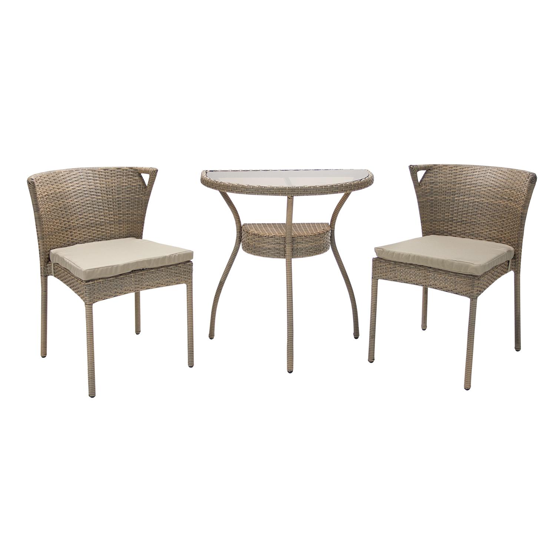 Мебель для балкона breeze стол и 2 стула, 46x71xh72,5см, ста.
